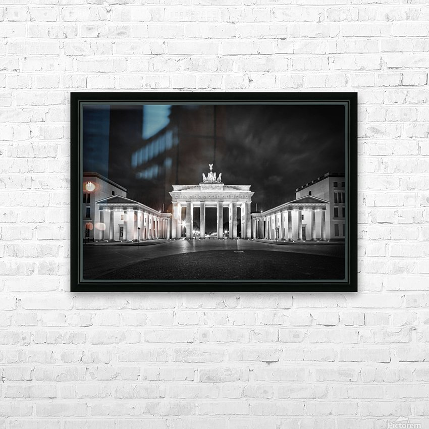 BERLIN Brandenburg Gate | Monochrome HD Sublimation Metal print with Decorating Float Frame (BOX)