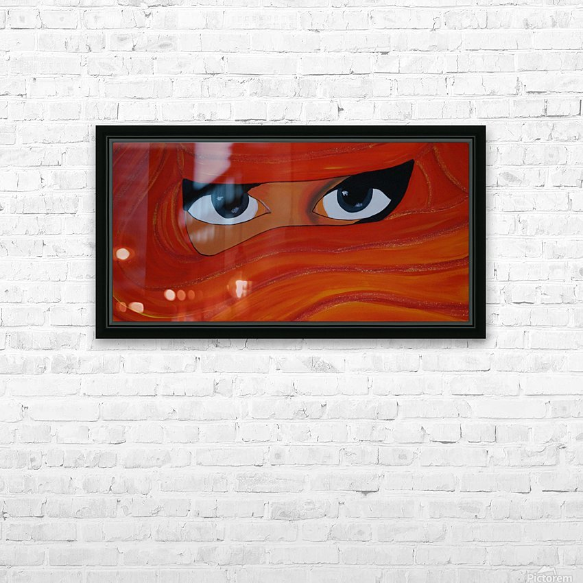 Veiled woman Red-orange-yellow HD Sublimation Metal print with Decorating Float Frame (BOX)