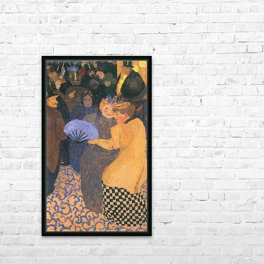 In the music hall by Felix Vallotton HD Sublimation Metal print with Decorating Float Frame (BOX)
