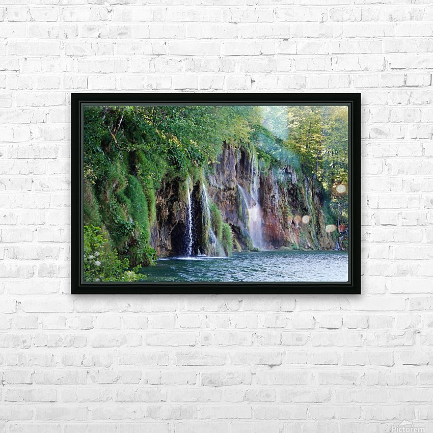 waterfall - Plitvicer lakes-nationalpark HD Sublimation Metal print with Decorating Float Frame (BOX)