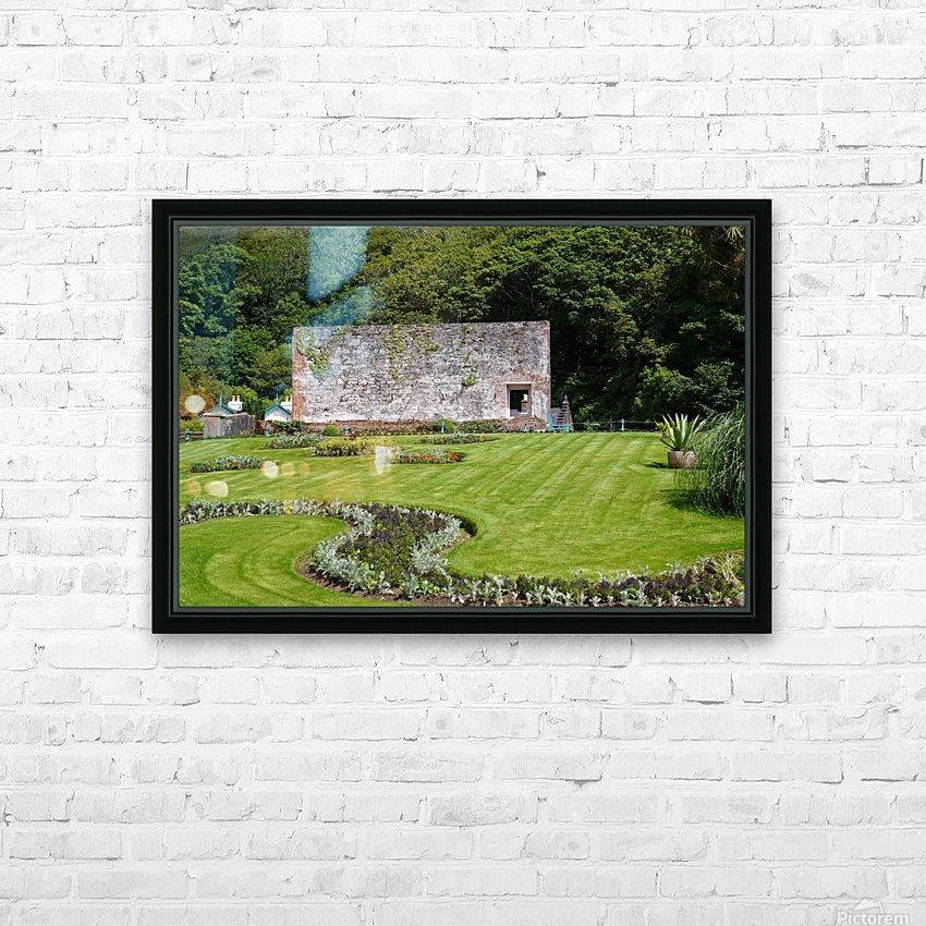 Victorian Walled Garden , Kylemore Abbey, Ireland, HD Sublimation Metal print with Decorating Float Frame (BOX)
