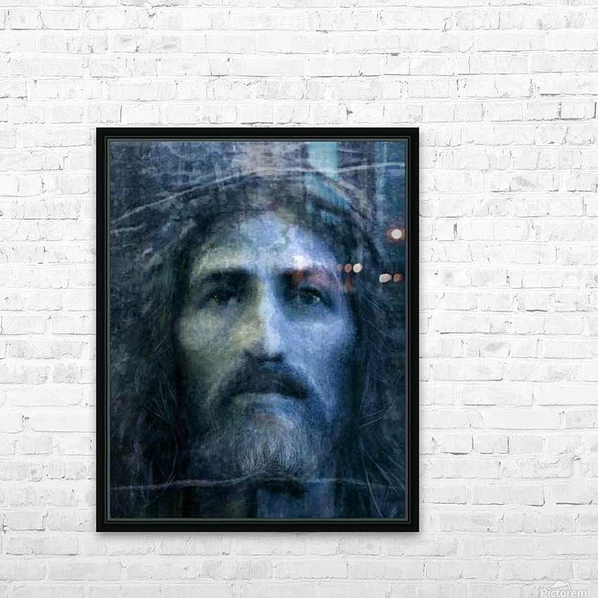 Christ face reconstruction blue HD Sublimation Metal print with Decorating Float Frame (BOX)
