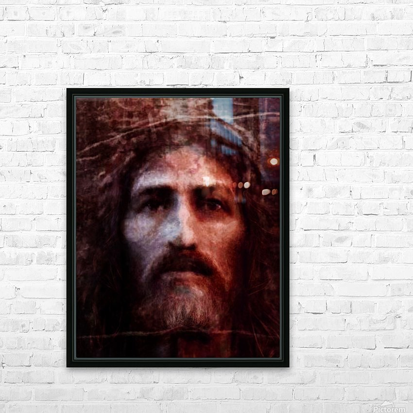 Christ face reconstruction claret HD Sublimation Metal print with Decorating Float Frame (BOX)