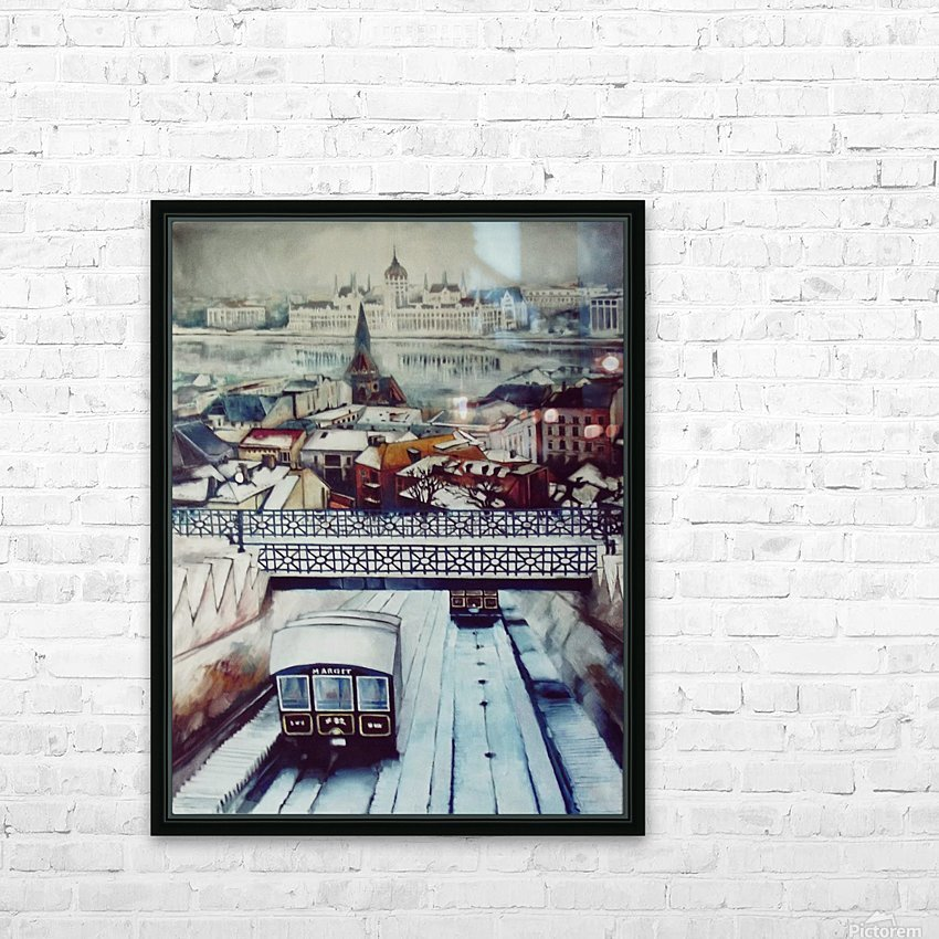 Nostalgia Cable Car in Budapest HD Sublimation Metal print with Decorating Float Frame (BOX)