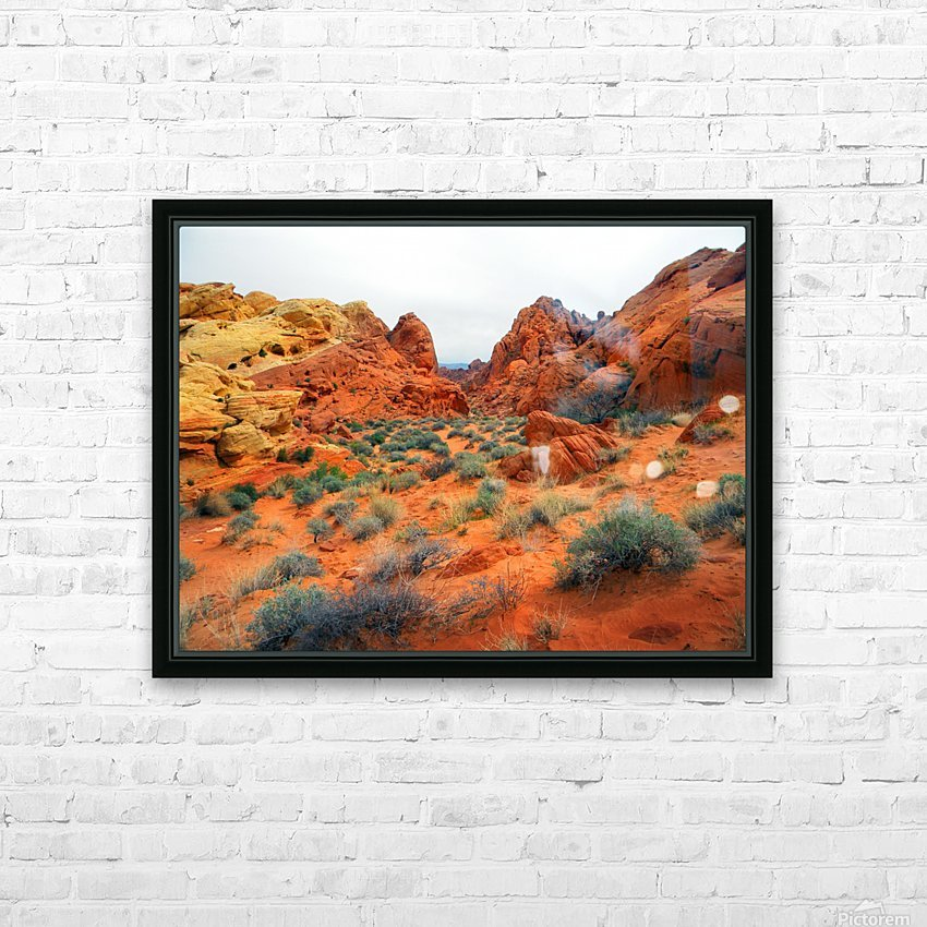 Desert Colors HD Sublimation Metal print with Decorating Float Frame (BOX)