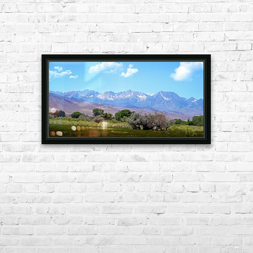 Mountain Valley HD Sublimation Metal print with Decorating Float Frame (BOX)