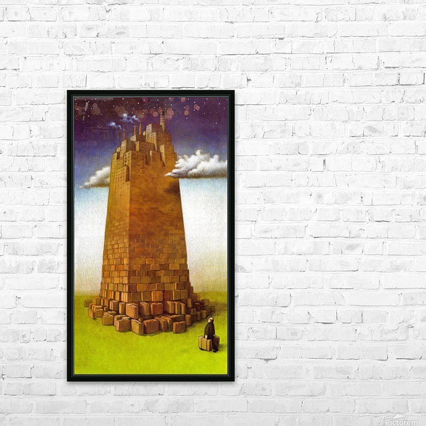 immigration HD Sublimation Metal print with Decorating Float Frame (BOX)