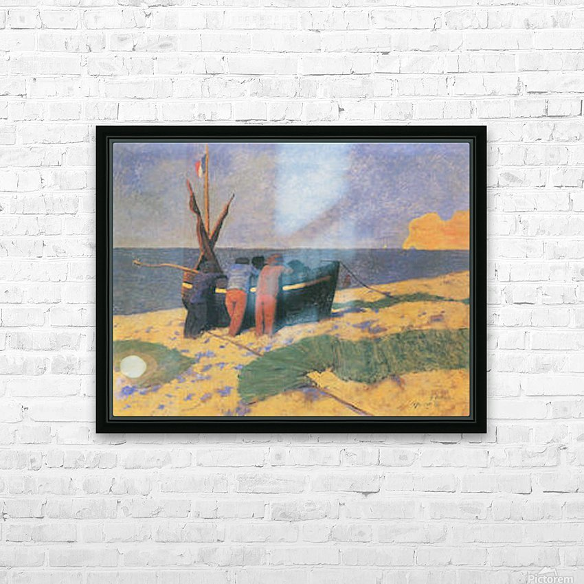 July in Etretat by Felix Vallotton HD Sublimation Metal print with Decorating Float Frame (BOX)