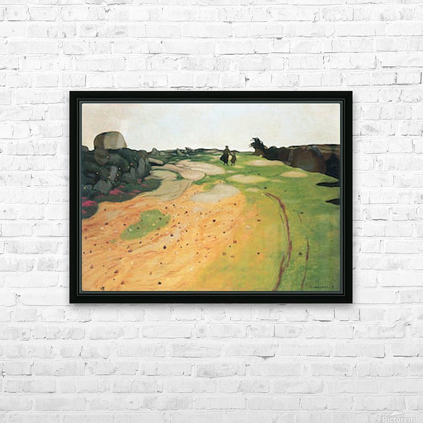 Landscape in Breton by Felix Vallotton HD Sublimation Metal print with Decorating Float Frame (BOX)