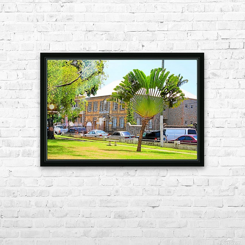 St Kitts Independence Square 3 HD Sublimation Metal print with Decorating Float Frame (BOX)
