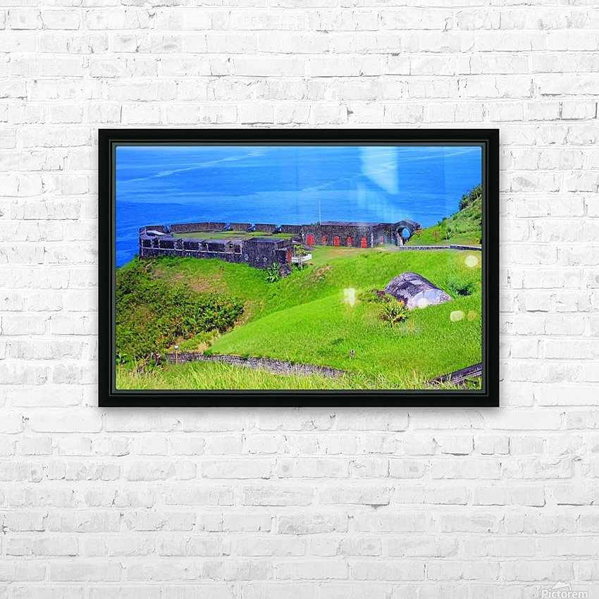 St Kitts Brimstone Hill Bastion HD Sublimation Metal print with Decorating Float Frame (BOX)
