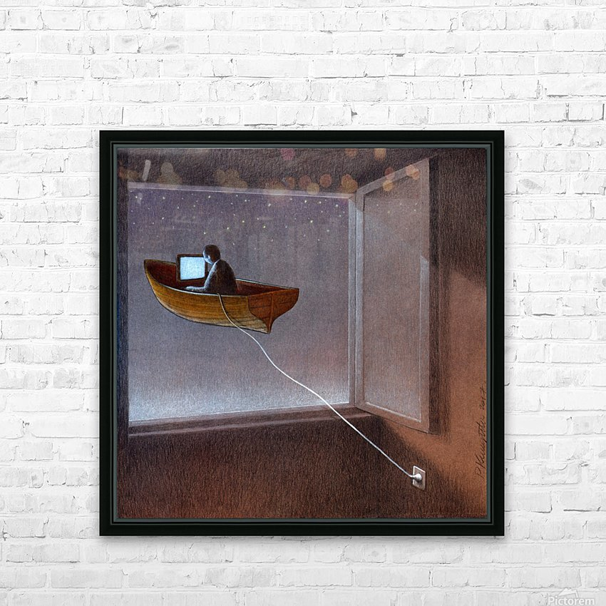 anchor HD Sublimation Metal print with Decorating Float Frame (BOX)