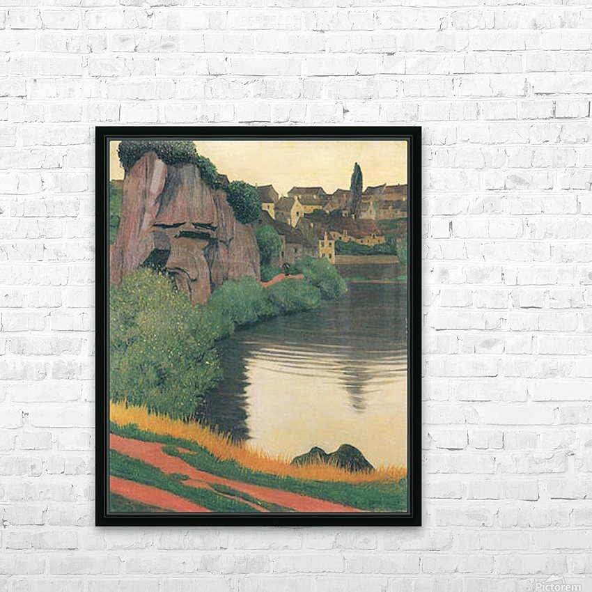 Landscape Semur by Felix Vallotton HD Sublimation Metal print with Decorating Float Frame (BOX)