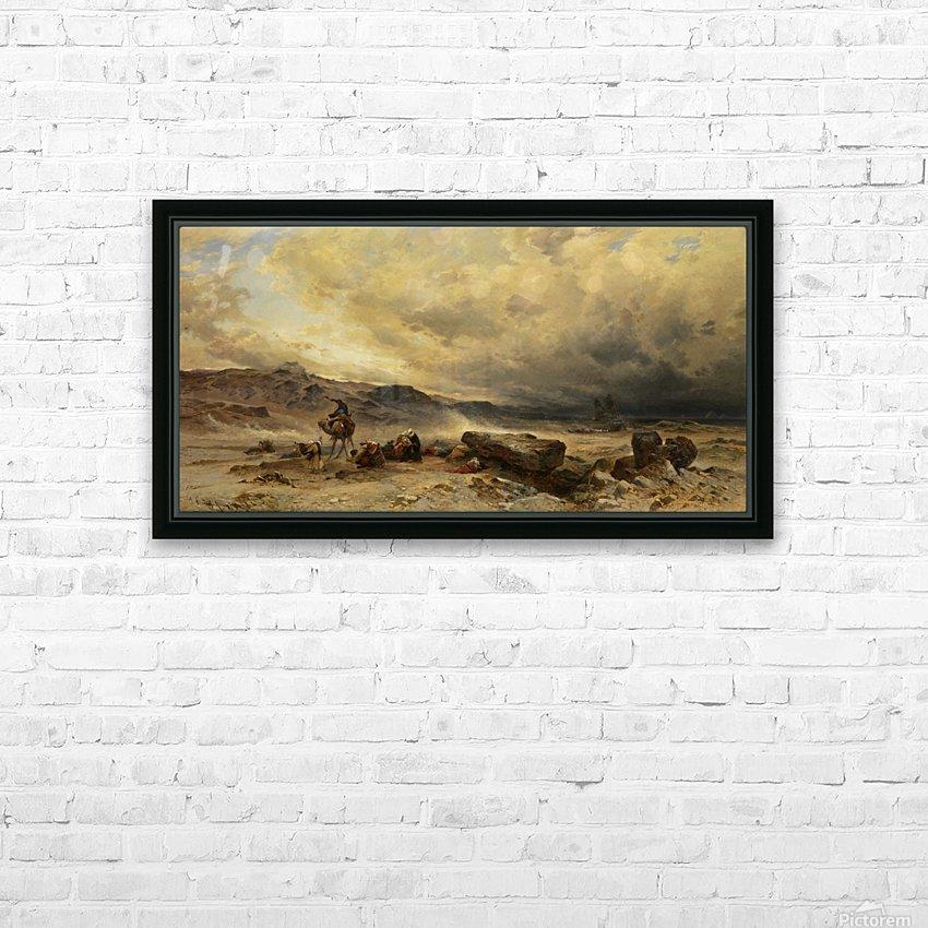 Caravan in a sandstorm HD Sublimation Metal print with Decorating Float Frame (BOX)