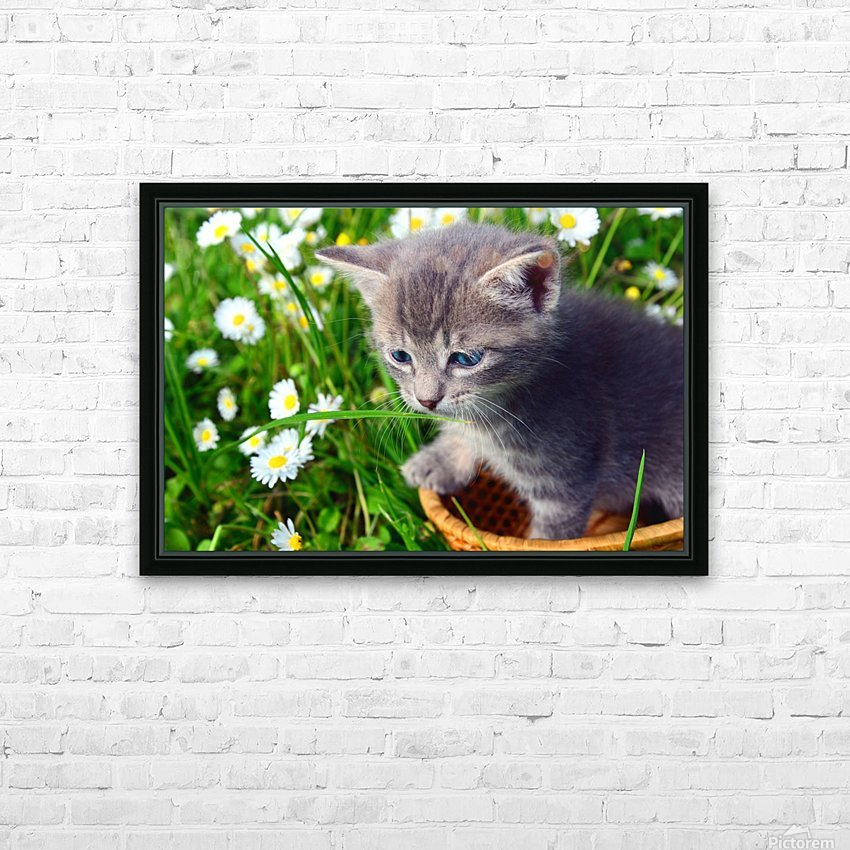 Smell the grass HD Sublimation Metal print with Decorating Float Frame (BOX)