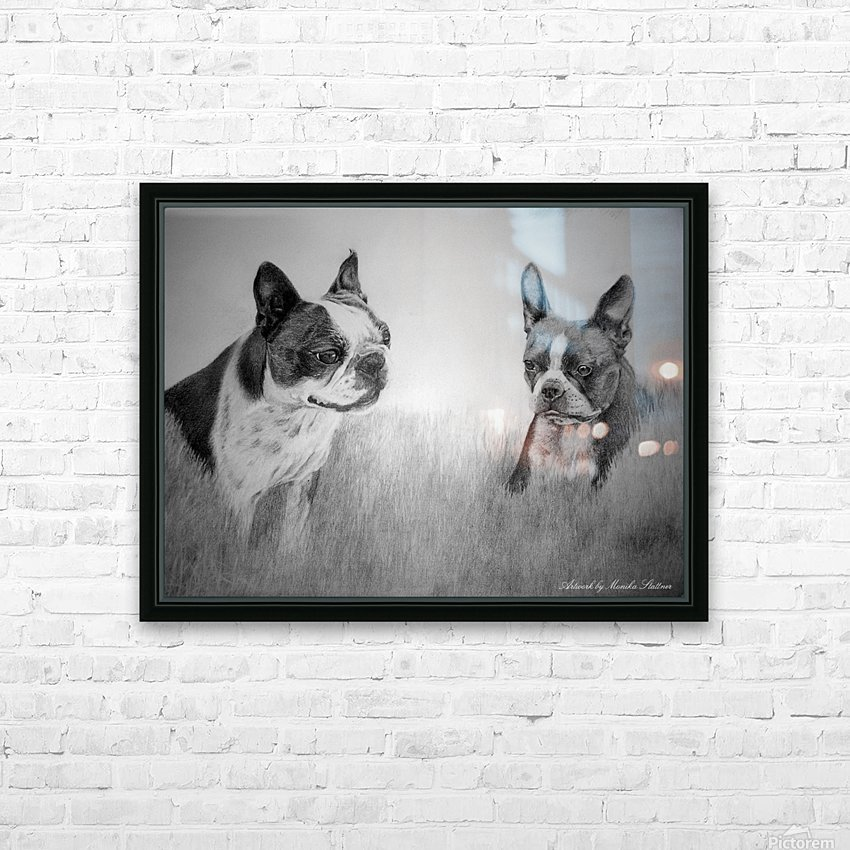 Boston Terriers HD Sublimation Metal print with Decorating Float Frame (BOX)