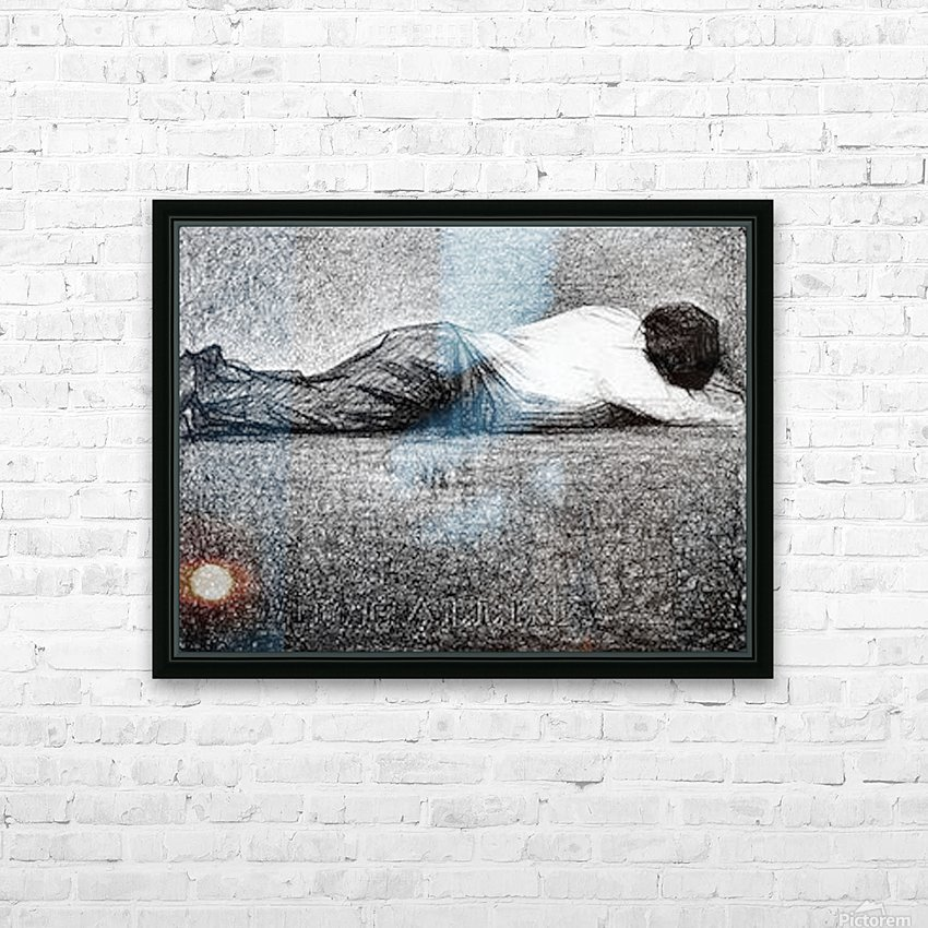 Man sleeping by Seurat HD Sublimation Metal print with Decorating Float Frame (BOX)