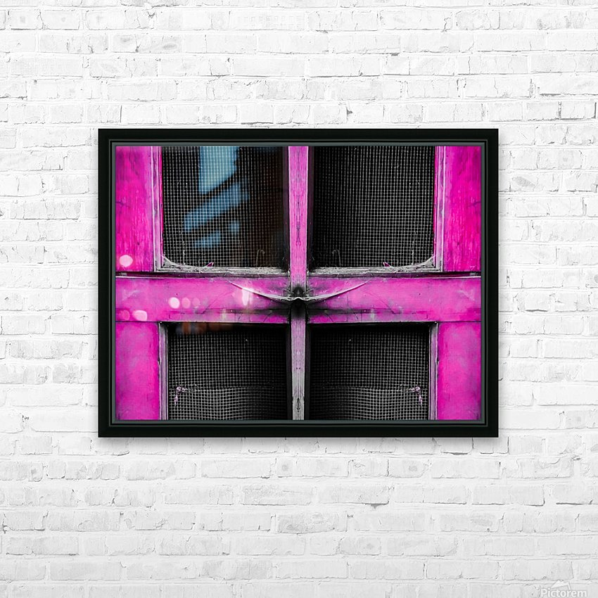 old pink wooden door abstract background HD Sublimation Metal print with Decorating Float Frame (BOX)