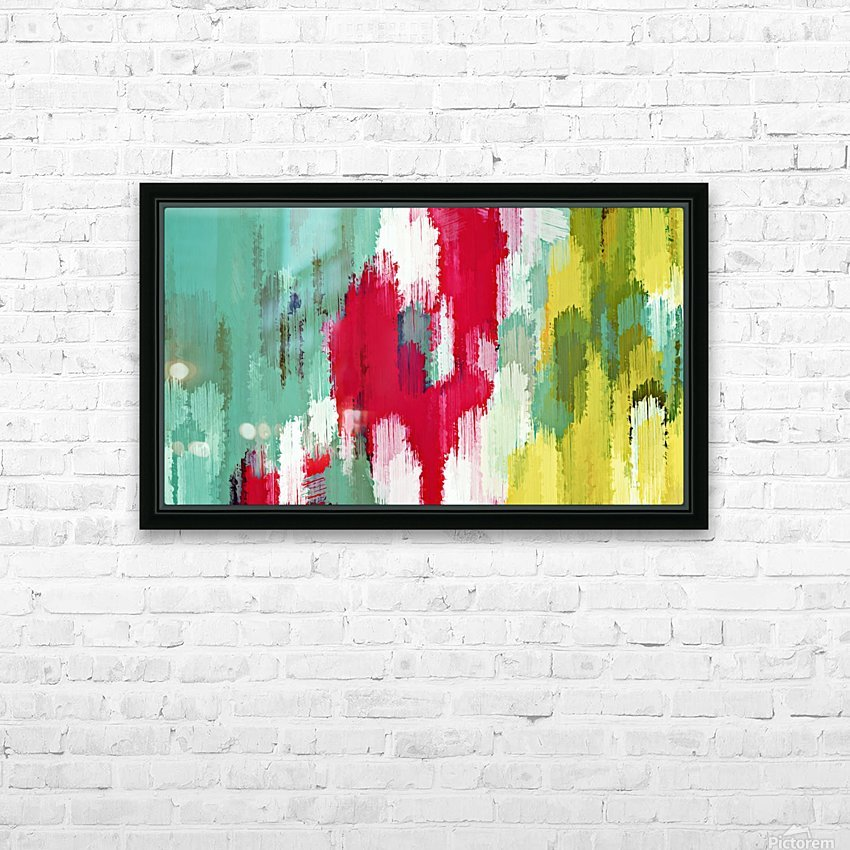 red green and yellow painting texture abstract background HD Sublimation Metal print with Decorating Float Frame (BOX)