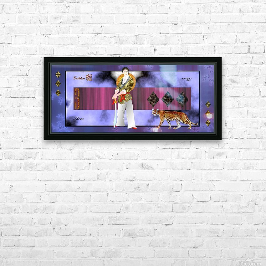 A3ThreeDiamondCard HD Sublimation Metal print with Decorating Float Frame (BOX)