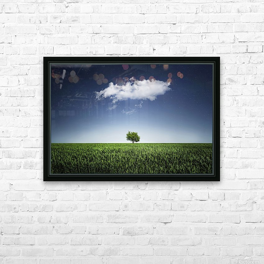 A tree covered with clouds HD Sublimation Metal print with Decorating Float Frame (BOX)