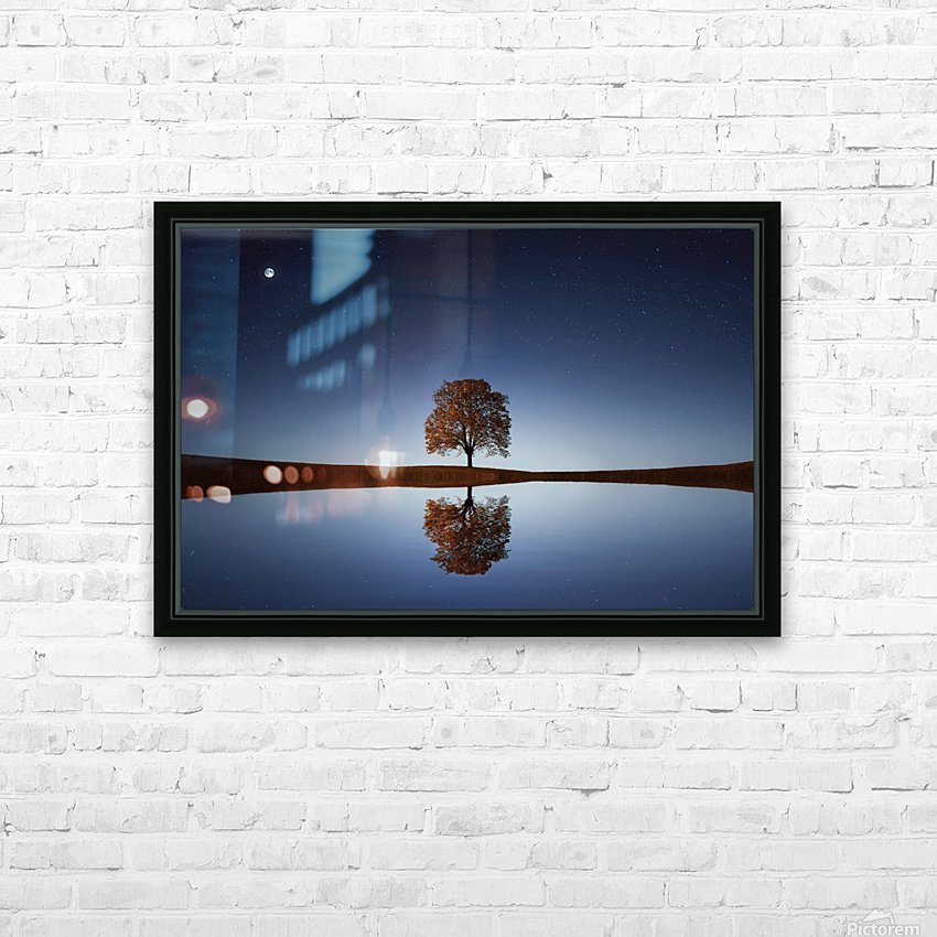 Reflection tre HD Sublimation Metal print with Decorating Float Frame (BOX)