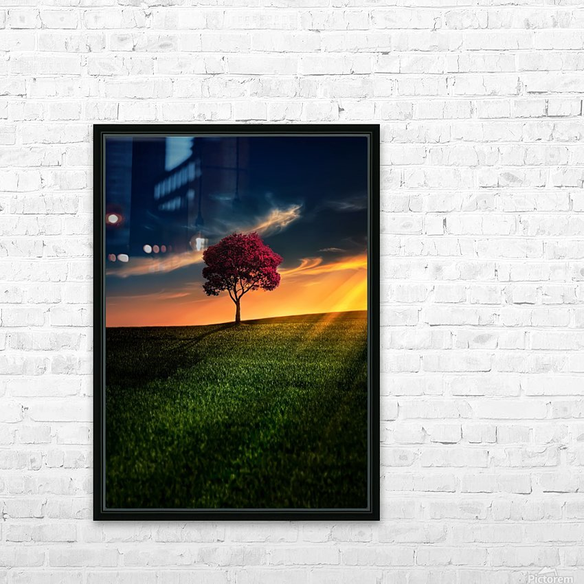 Awesome Solitude HD Sublimation Metal print with Decorating Float Frame (BOX)