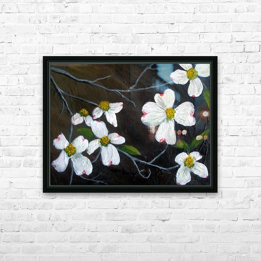 dogwoods HD Sublimation Metal print with Decorating Float Frame (BOX)