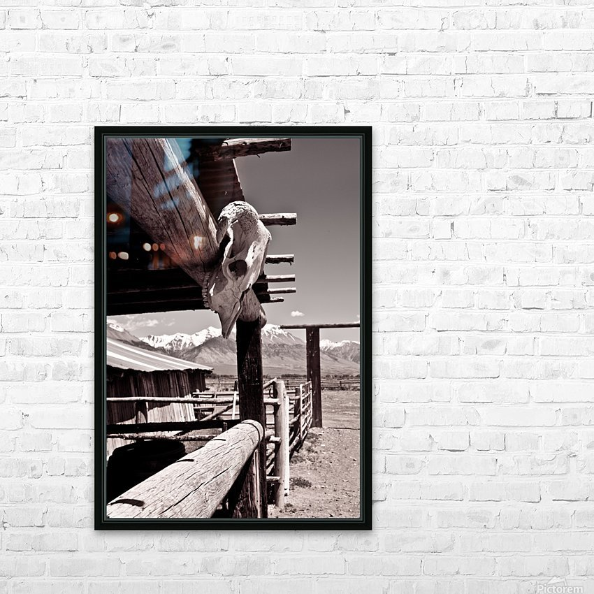 ©lou Freeman Wild West Cowboy Art 1020 21 HD Sublimation Metal print with Decorating Float Frame (BOX)
