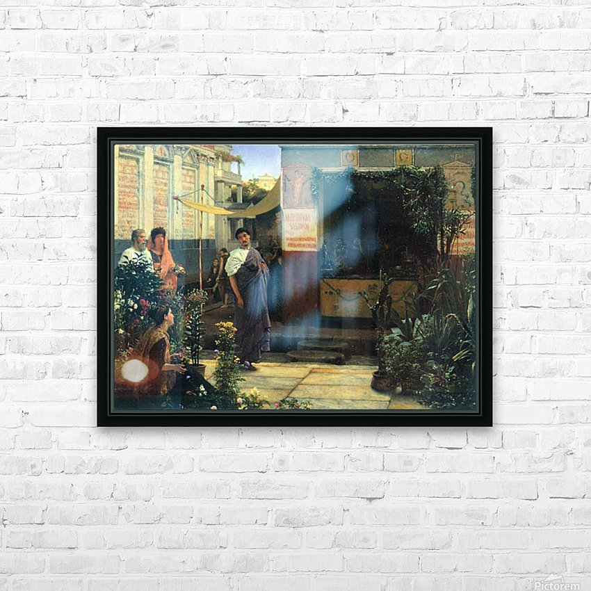 The Flower Market by Alma-Tadema HD Sublimation Metal print with Decorating Float Frame (BOX)