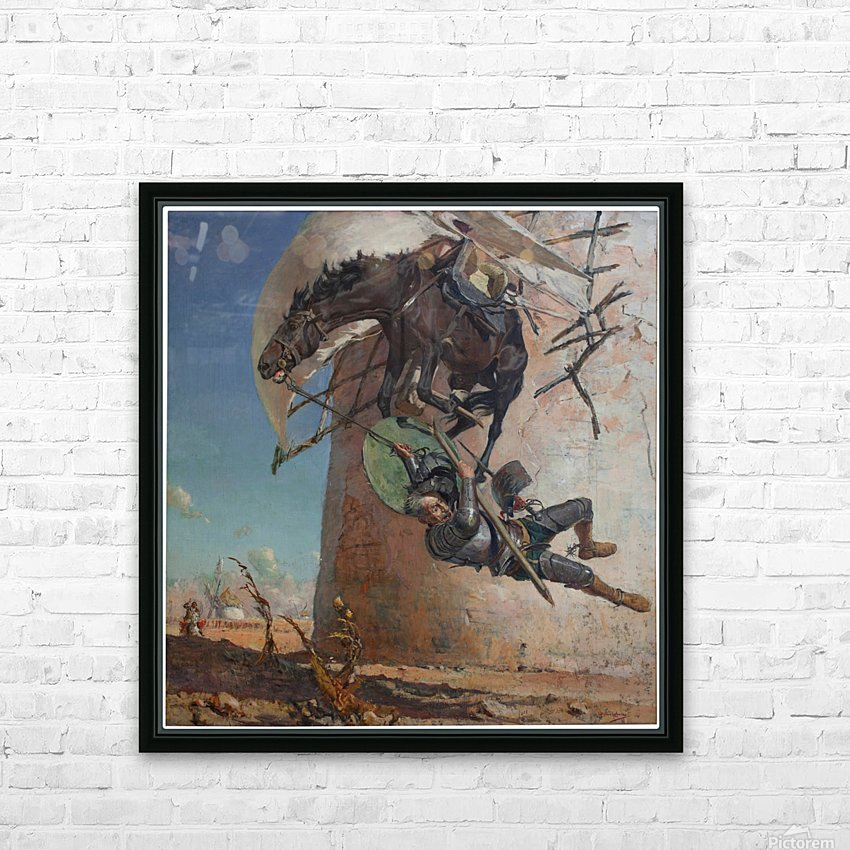 Don Qujiote HD Sublimation Metal print with Decorating Float Frame (BOX)