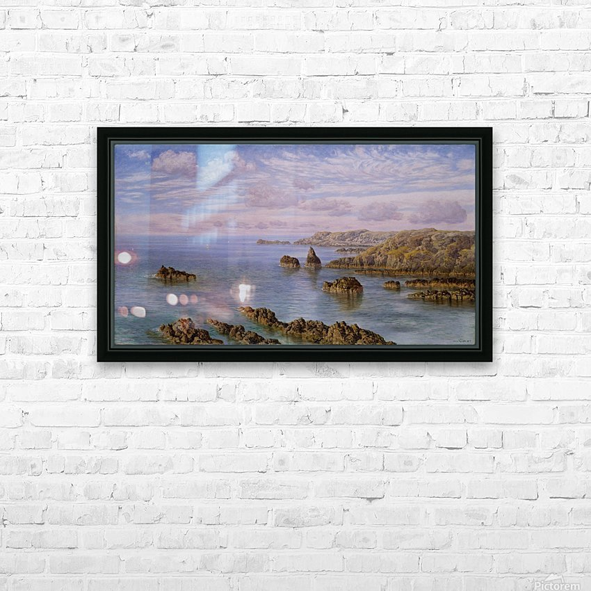 Southern Coast of Guernsey, 1875 HD Sublimation Metal print with Decorating Float Frame (BOX)