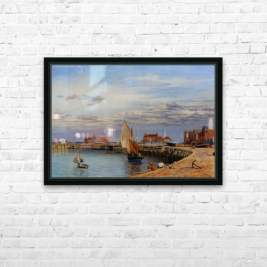 Entrance to Yarmouth Harbour HD Sublimation Metal print with Decorating Float Frame (BOX)