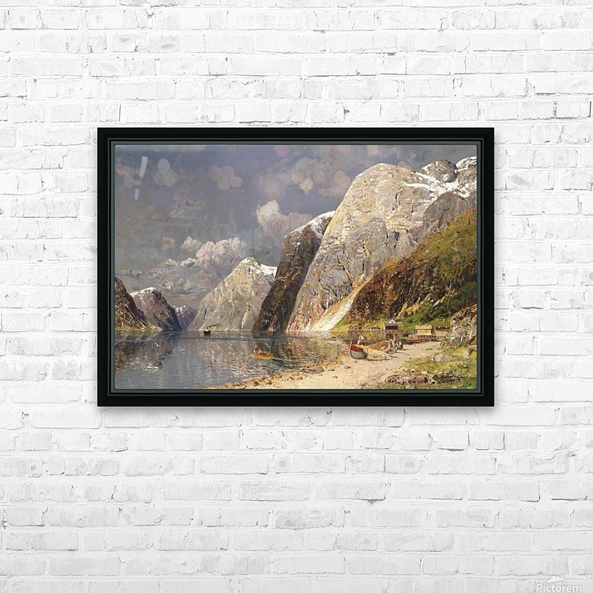 A river crossing the mountains HD Sublimation Metal print with Decorating Float Frame (BOX)