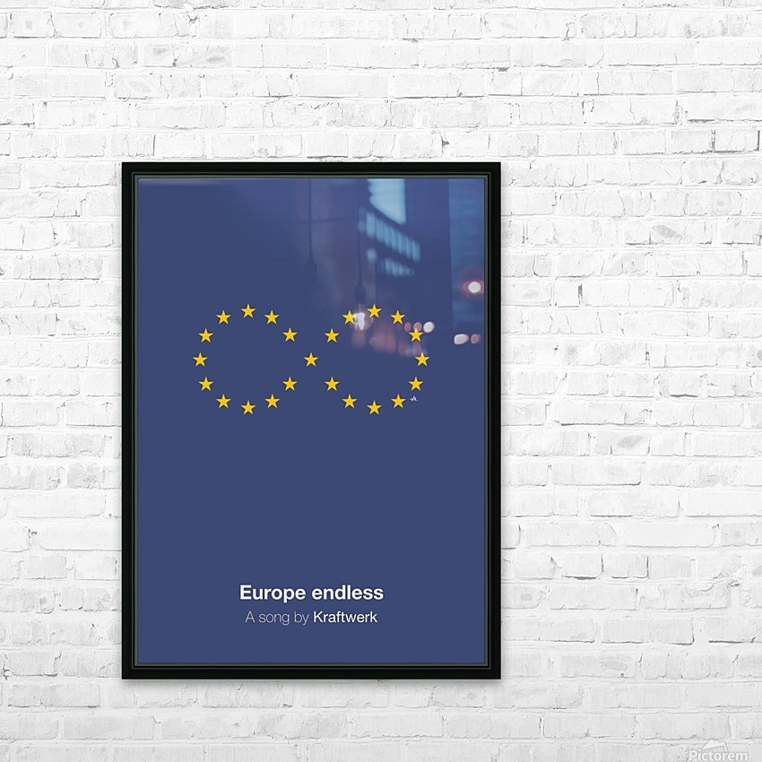 Europe endless HD Sublimation Metal print with Decorating Float Frame (BOX)