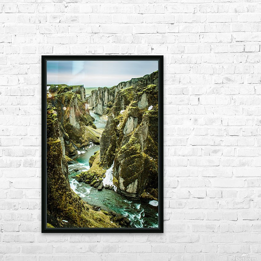 Green Canyon HD Sublimation Metal print with Decorating Float Frame (BOX)
