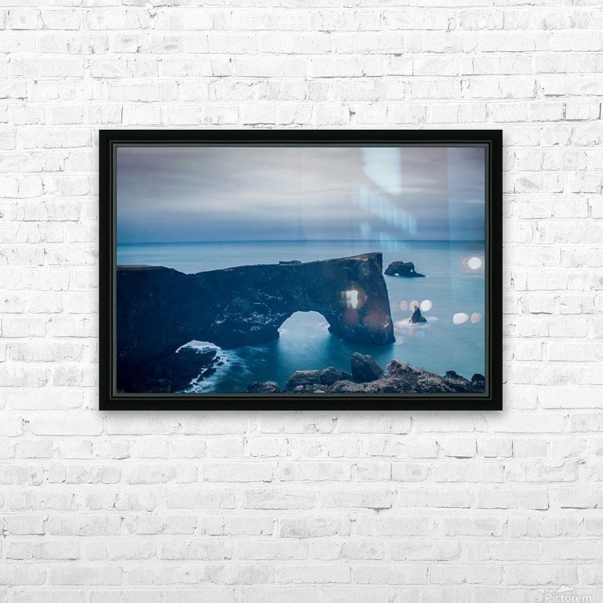 Dyrhólaey HD Sublimation Metal print with Decorating Float Frame (BOX)