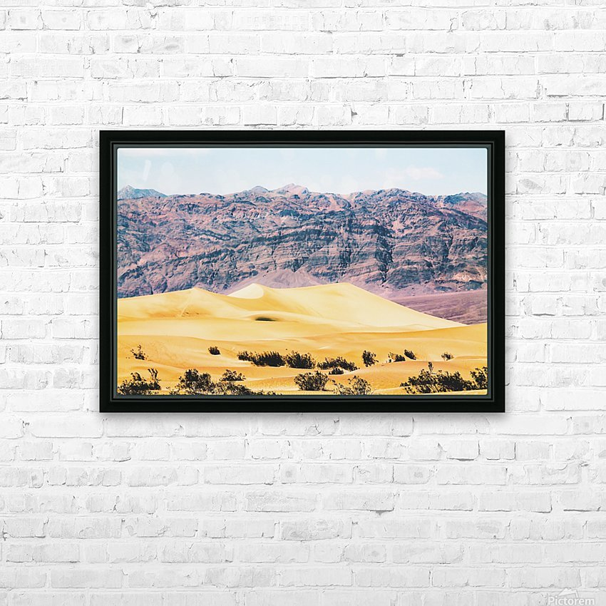 sand desert with mountain background at Death Valley national park, USA HD Sublimation Metal print with Decorating Float Frame (BOX)