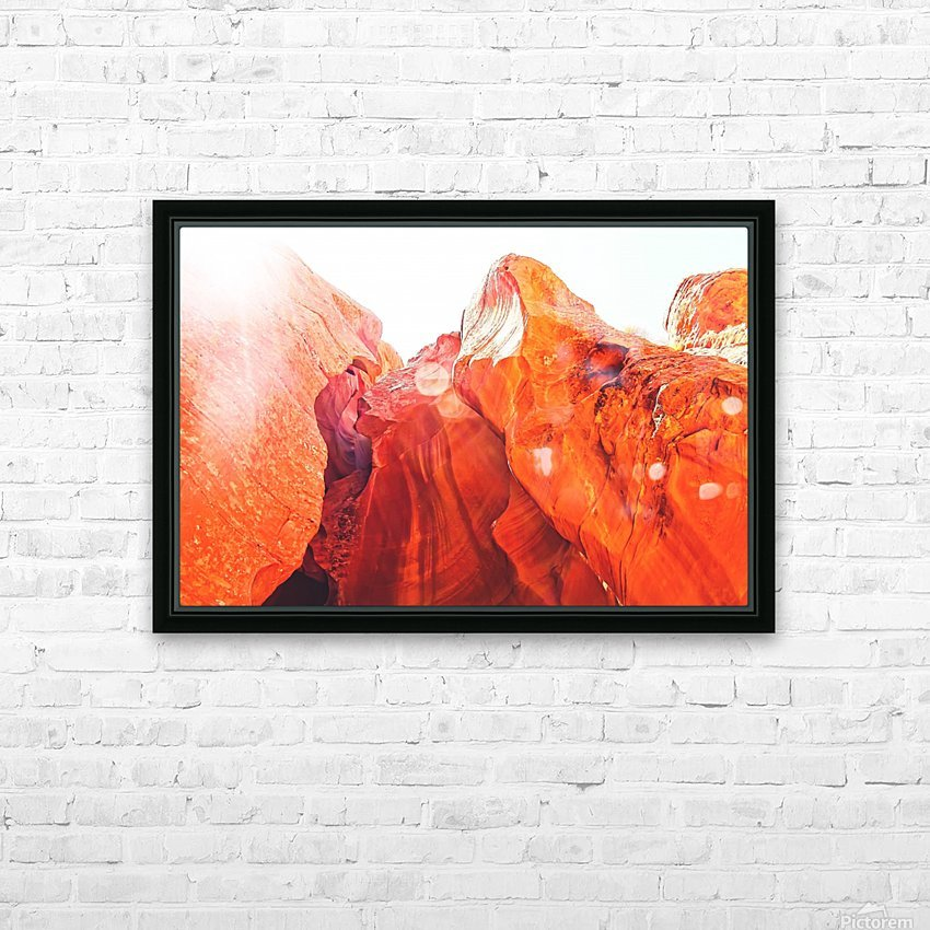 texture of the orange rock and stone at Antelope Canyon, USA HD Sublimation Metal print with Decorating Float Frame (BOX)