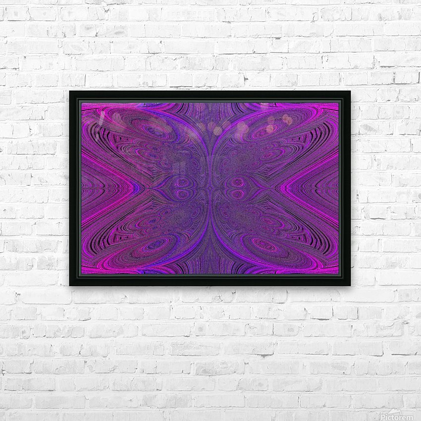 Digital Butterfly Purple Pink  HD Sublimation Metal print with Decorating Float Frame (BOX)
