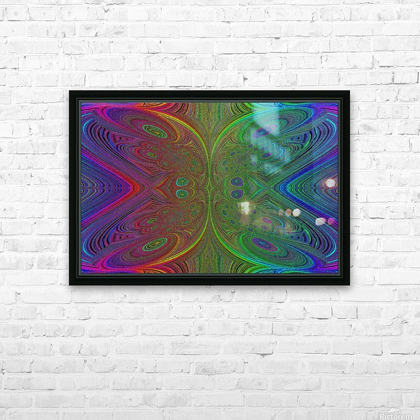Digital Butterfly Rainbow 1 HD Sublimation Metal print with Decorating Float Frame (BOX)