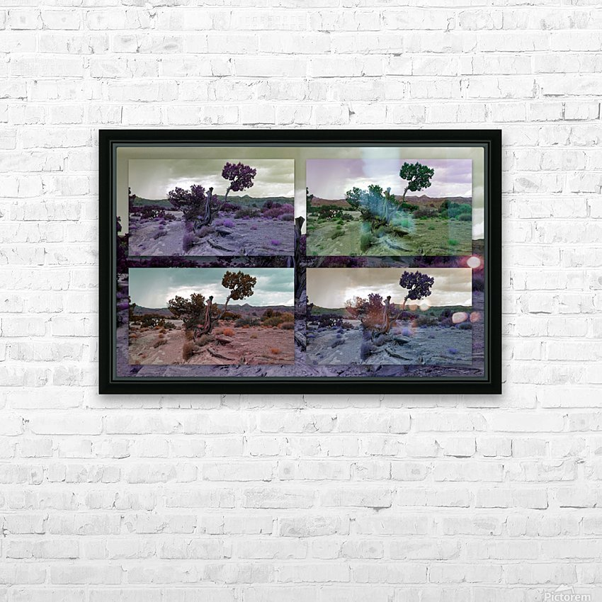 Utah Tree Collage HD Sublimation Metal print with Decorating Float Frame (BOX)