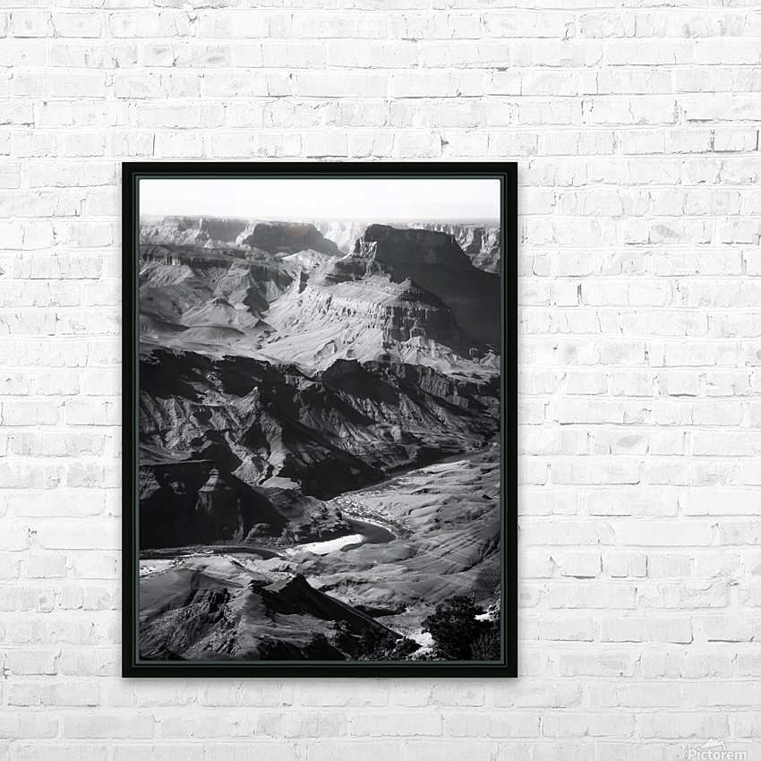Desert at Grand Canyon national park, USA in black and white HD Sublimation Metal print with Decorating Float Frame (BOX)