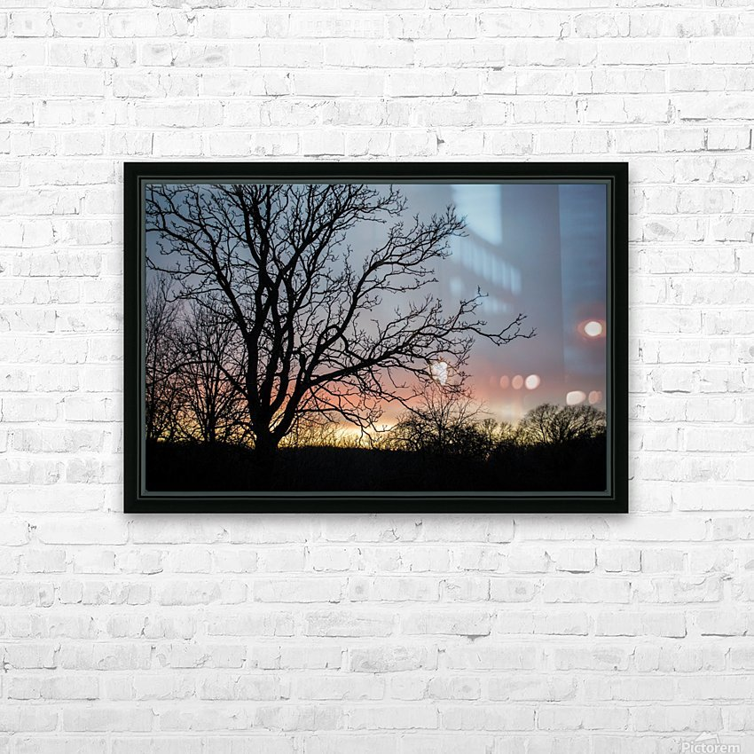 Sunrise HD Sublimation Metal print with Decorating Float Frame (BOX)