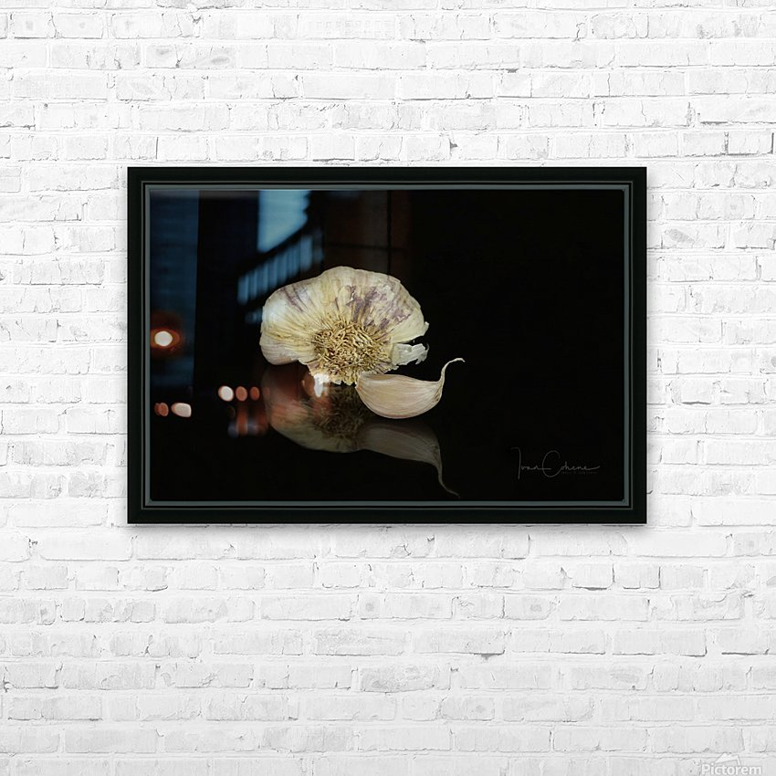 Garlic HD Sublimation Metal print with Decorating Float Frame (BOX)