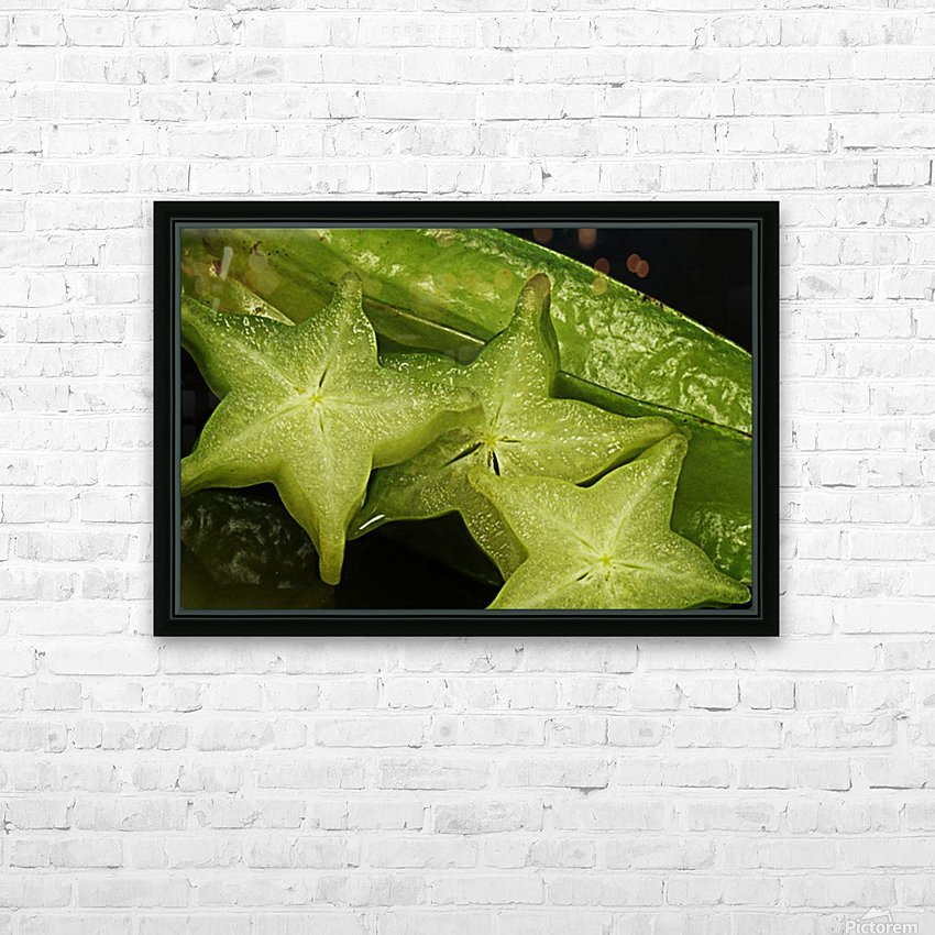 Star Fruit HD Sublimation Metal print with Decorating Float Frame (BOX)