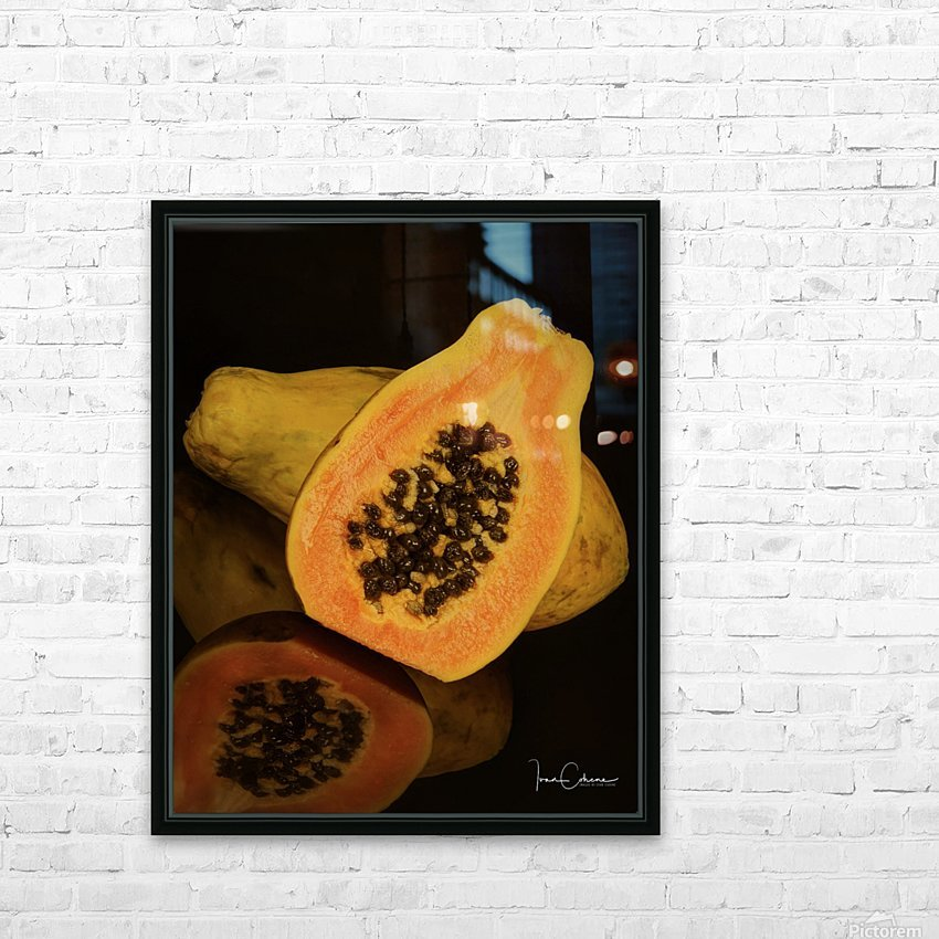 Papaya HD Sublimation Metal print with Decorating Float Frame (BOX)