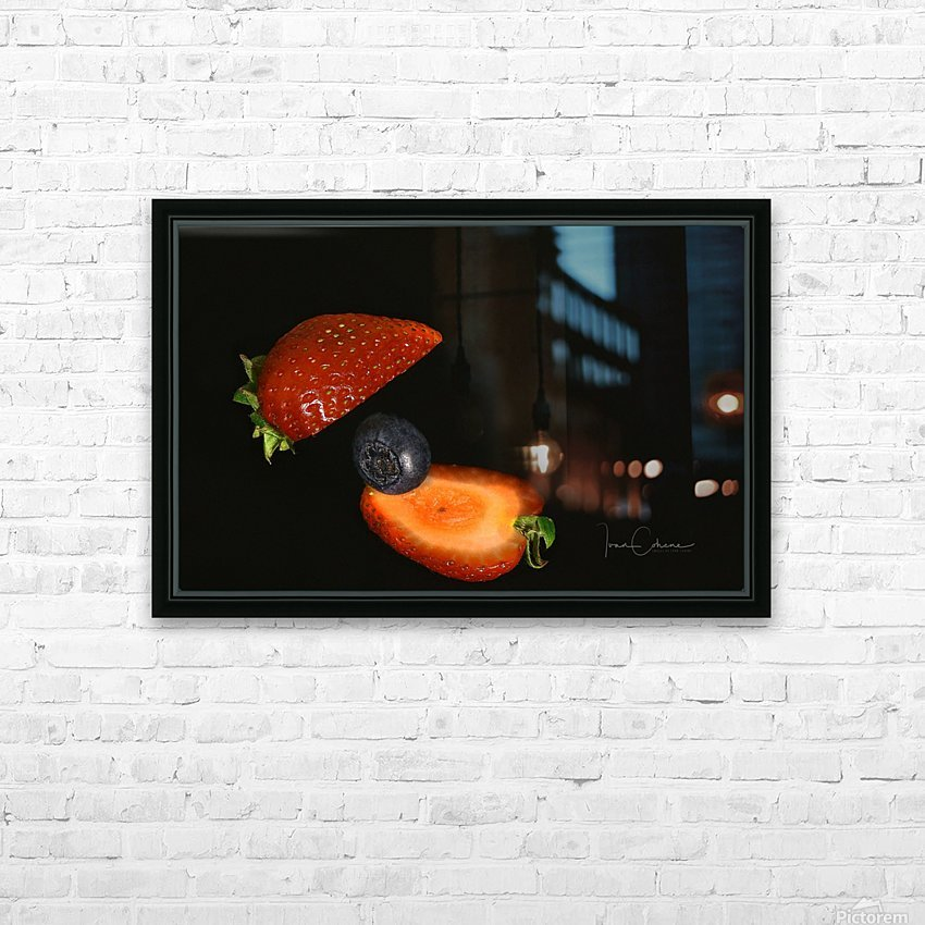 Strawberry HD Sublimation Metal print with Decorating Float Frame (BOX)