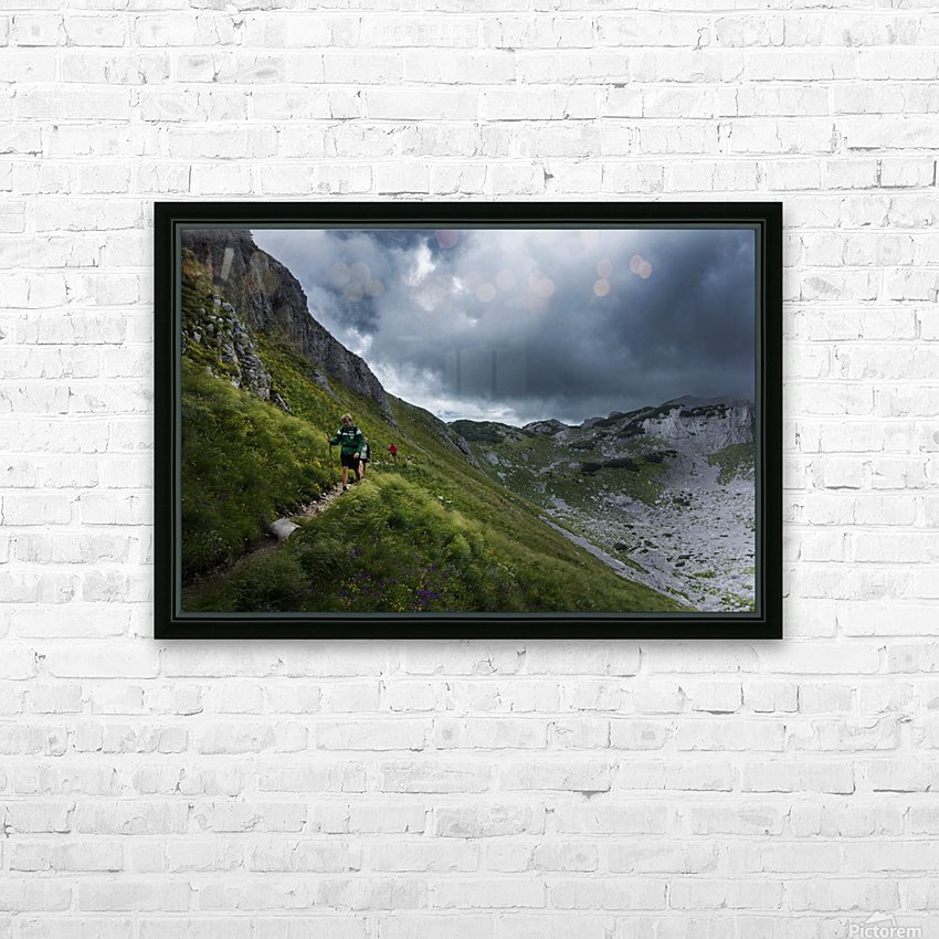 Mountain people  HD Sublimation Metal print with Decorating Float Frame (BOX)