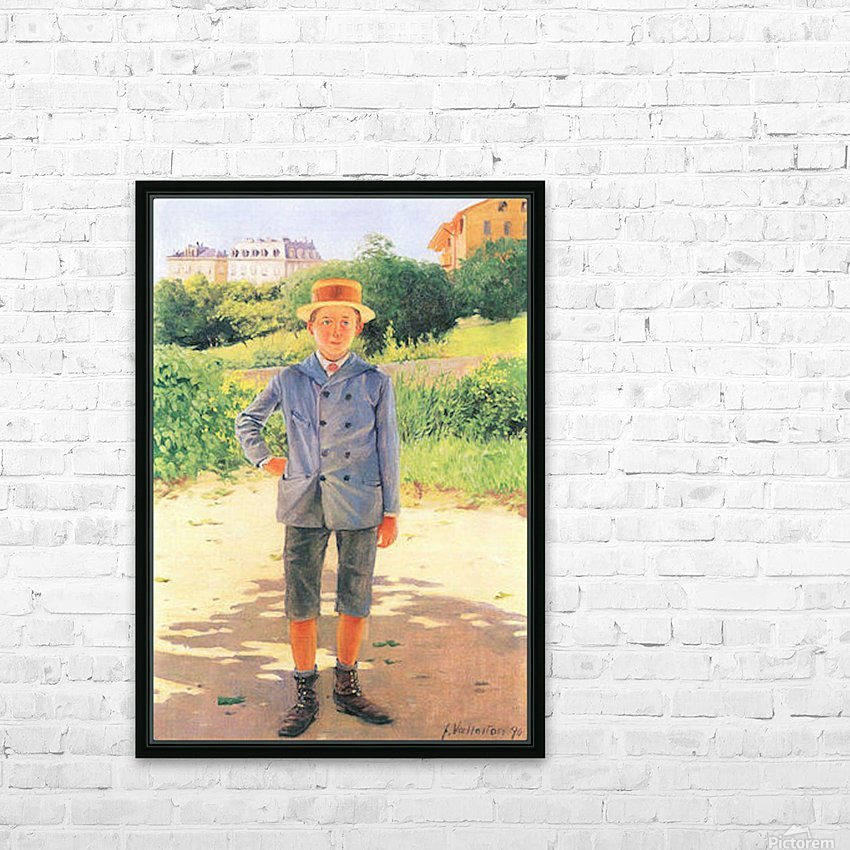 Portrait of a young Delisle by Felix Vallotton HD Sublimation Metal print with Decorating Float Frame (BOX)